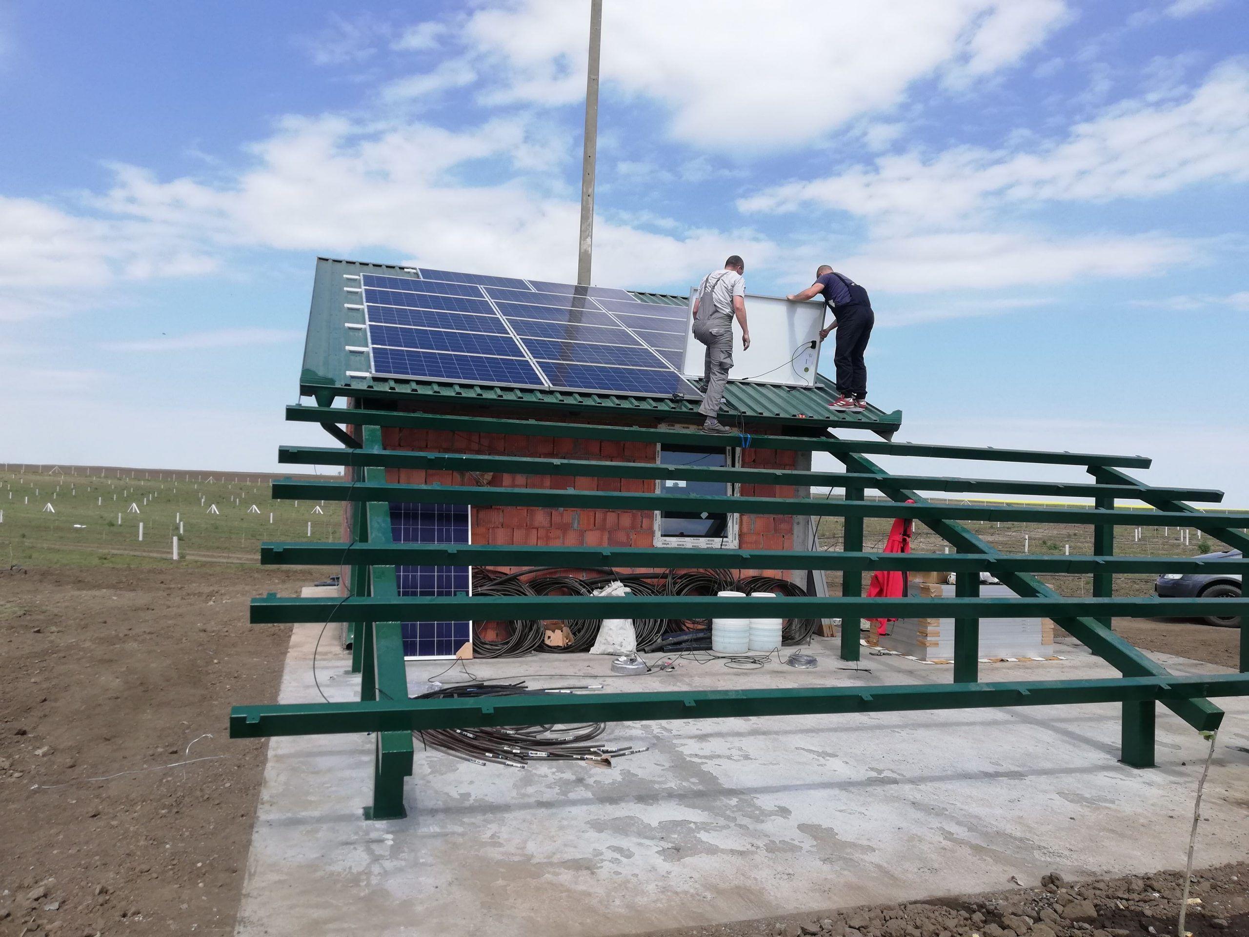 Montiranje solarniz panela za navodnjavanje